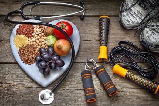 équipement de sport et nutrition équilibrée